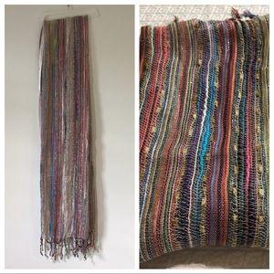 Boho Chic Rainbow Scarf Multi-Colored Wrap Shawl